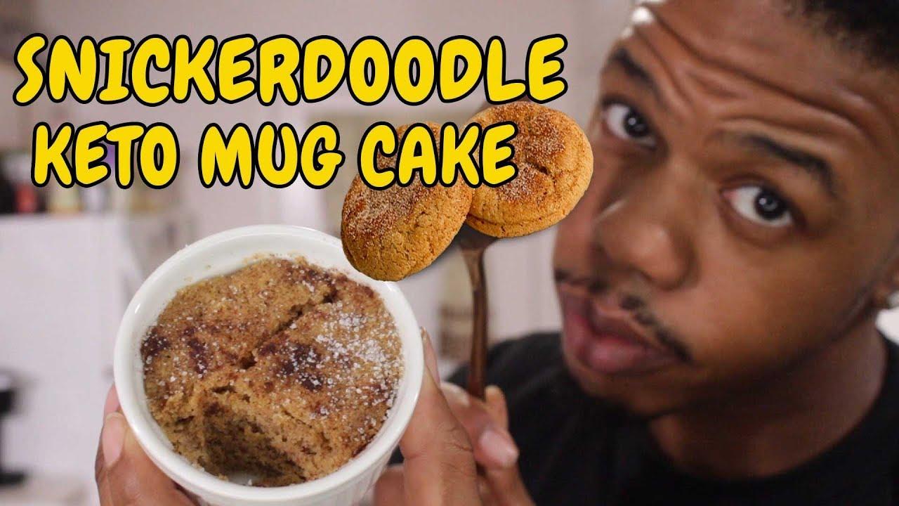 SNICKERDOODLE KETO MUG CAKE - YouTube