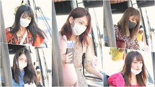 [4K] 180901 프로듀스48 직캠 (PRODUCE48) - 전체 멤버 버스하차 @출국 /Fancam By 쵸리(Chori)