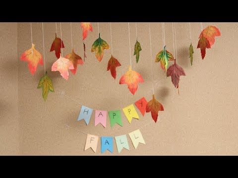 DIY - How To Make Easy Fall Crafts - Autumn Leaves - DIY Crafts