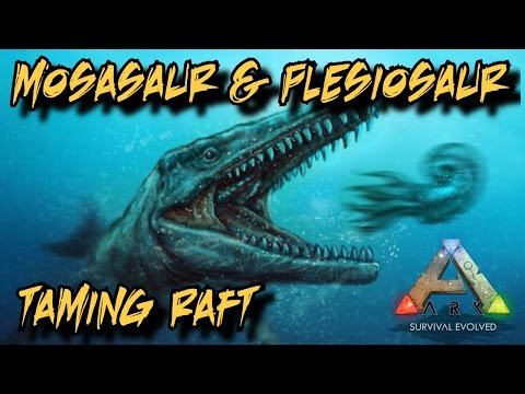 Mosasaurus/Plesiosaur/Dunkleosteus Taming Raft and Depth Gauge Tutorial - Ark Survival Evolved