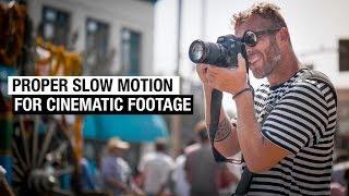 Sinemasal B için ağır çekim Video nasıl-Roll