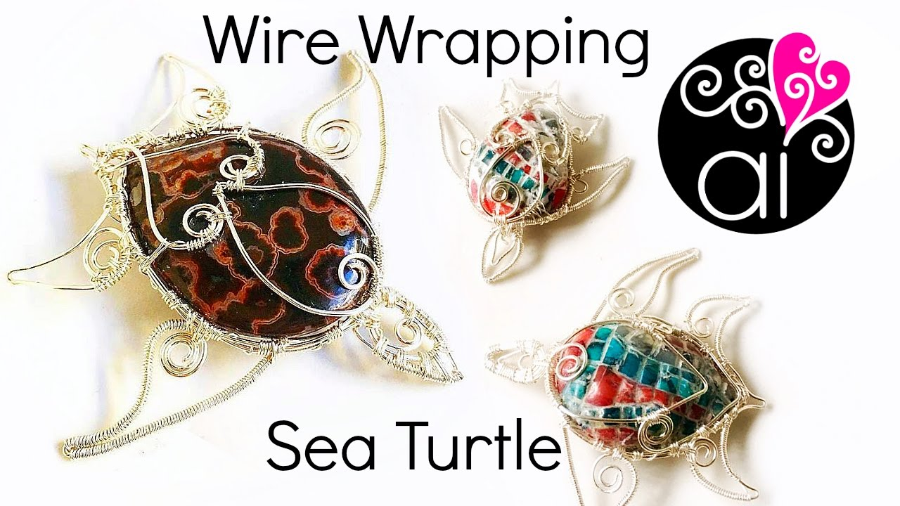 Wire Wrapping Tutorial | Sea Turtle | Setting a Drop Stone - YouTube