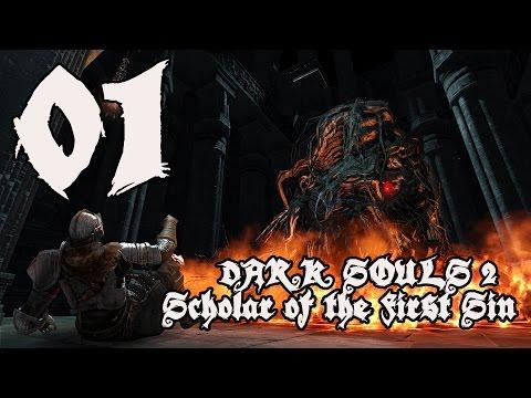 Dark Souls 2 Scholar of the First Sin - Walkthrough Part 1: Cowboy Returns to Majula