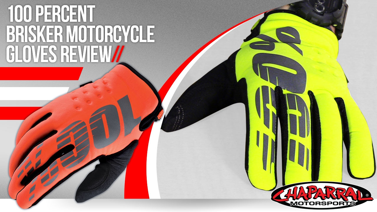 100 Percent Brisker Motorcycle Gloves Review - YouTube