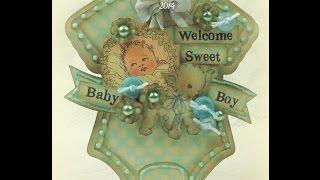 DIY Vintage Baby Boy Onesie Card Tutorial