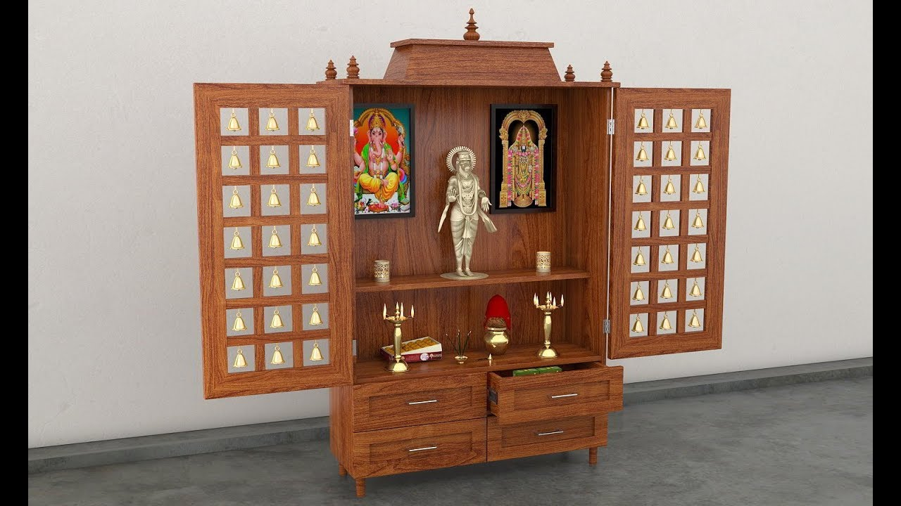 Pooja Stand Designs With Price : Latest simple portable pooja room designs youtube