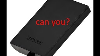 can you use a xbox 360 hard drive on a pc?
