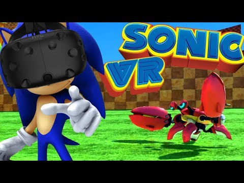 PLAYING AS SONIC IN VIRTUAL REALITY | Sonic VR Edition