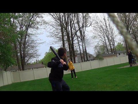 Crazy Wiffle Ball Stadium In Backyard