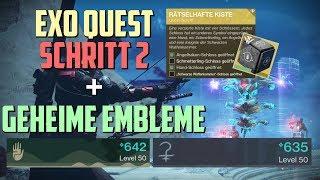 Destiny 2 : Rätselhafte Kiste - 2. Schritt + 2 Geheime Embleme | Hand Schloss