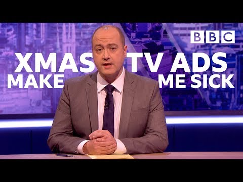 The problem with Christmas TV Adverts I The Mash Report - BBC