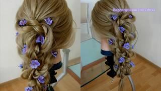 Причёска из кос. На выпускной. Видео-урок. Hair tutorial.
