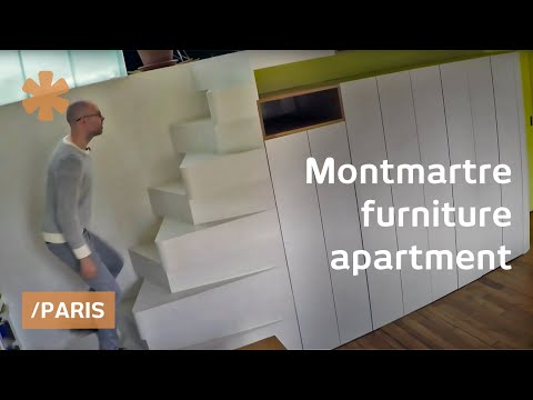 Turning Montmartre flat into adaptive space perched on Paris