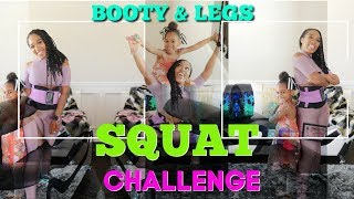 Booty and Leg Workout -SQUAT CHALLENGE -Keaira LaShae