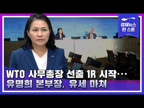 WTO 사무총장 선출 1R 시작... 유명희 본부장, 유세 마쳐 | 경제뉴스 한 스푼