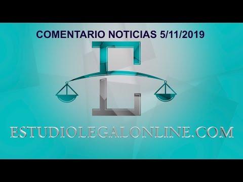 Comentarios Noticias Estudiolegal 5/11/2019 www.estudiolegalonline.com