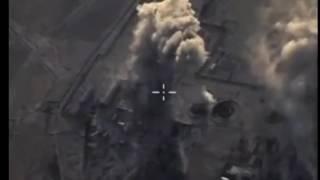 القاذفات الروسية توبوليف 22 أم 3 تدمر مواقع لإرهابيي داعش شرق مدينة تدمر