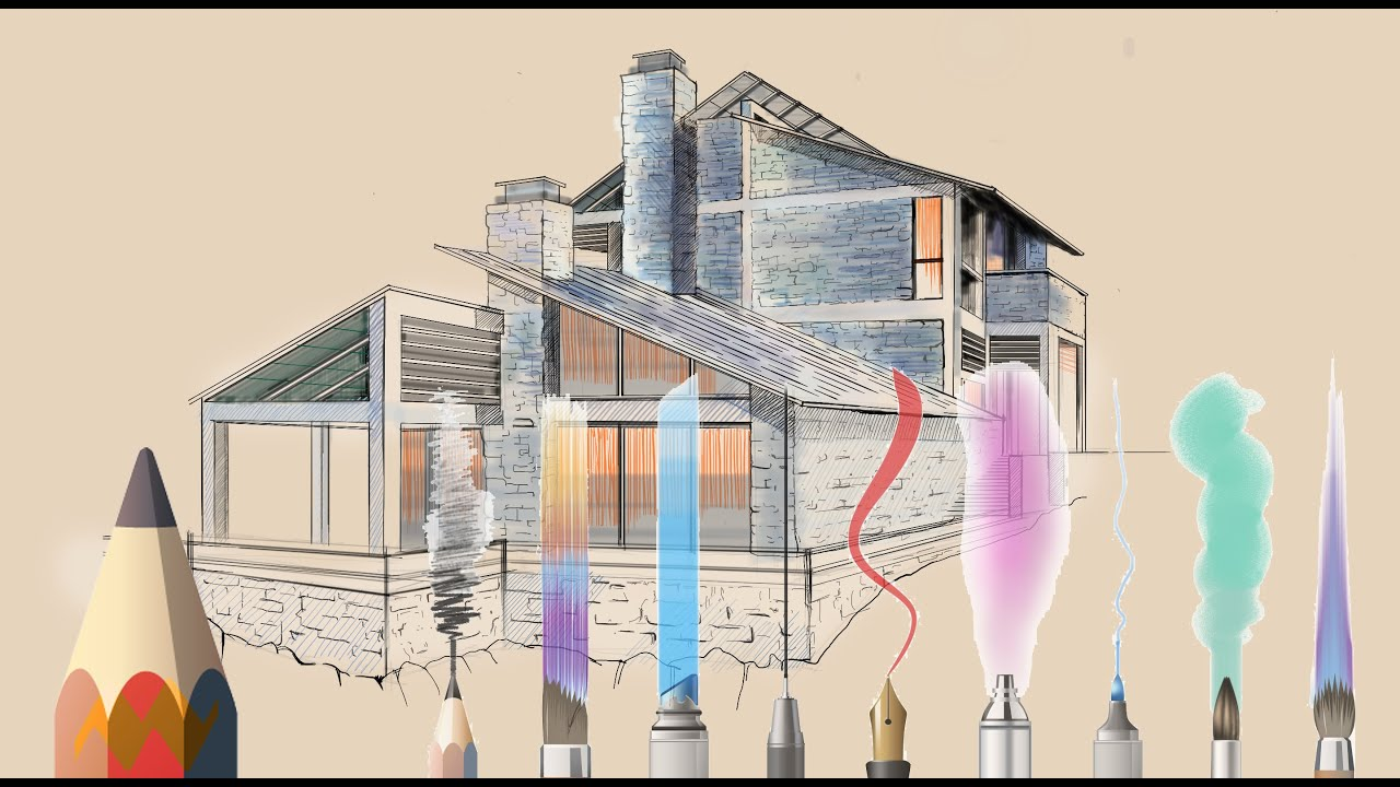 Should you use sketchbook pro for architectural drawings for Home architecture drawing