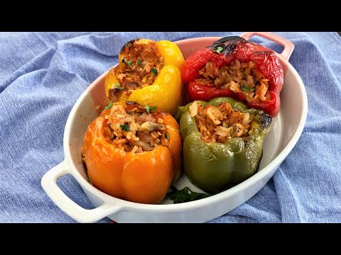 Stuffed Bell Peppers – Easy Vegan Recipe