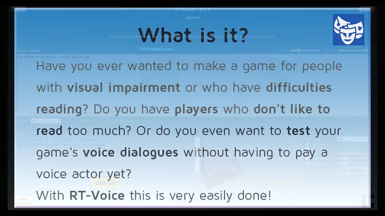RT-Voice - Run-time text-to-speech solution - Unity Forum