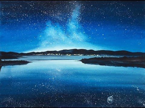 e39580ca9 Watercolor Night Sky III Painting Demonstration - YouTube
