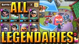 ALL LEGENDARY DECK WITH BANDIT, GRAVEYARD, ELECTRO WIZARD AND MORE! | Clash Royale | Live Gameplay |