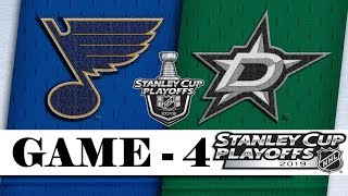St. Louis Blues Vs Dallas Stars  Second Round  Game 4  Stanley Cup 2019  Обзор