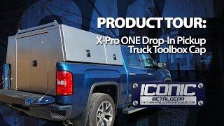 X-Pro ONE Drop-In Aluminum Commercial Truck Cap/Pack