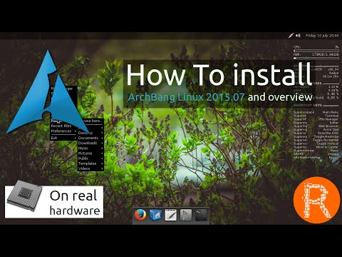 How To install ArchBang Linux 2015.07 and overview [On real hardware]
