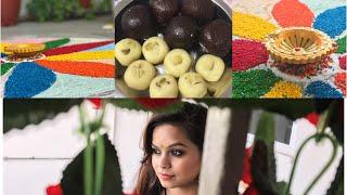 Diwali Vlog 2017    Diwali Day In My Life    Rangoli & Sweets
