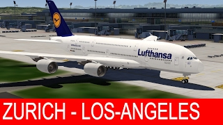Aerofly 2 Flight Simulator | Lüfthansa A380 - Zürich to Los-Angeles [Spectacular Scenery]