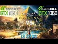 Assassin's Creed : Origins GTX 1050 Ti vs GTX 1060 (i3 8100)