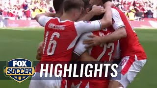 Alexis Sánchez get the go-ahead goal for Arsenal | 2016-17 FA Cup Highlights