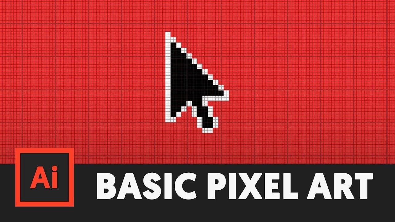How To Make Pixel Art Adobe Illustrator Tutorial Youtube