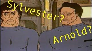 Russian cartoons cameos: Sylvester Stallone, Arnold Schwarzenegger and Lucy Liu