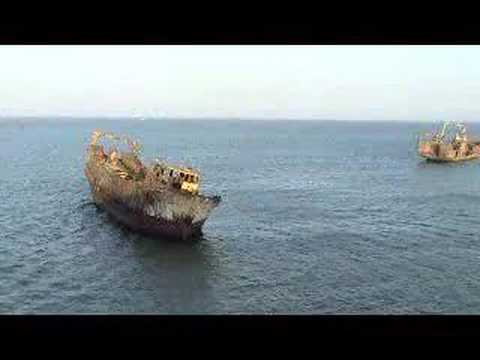 Shipwrecks in Nouhadibou, Mauritania