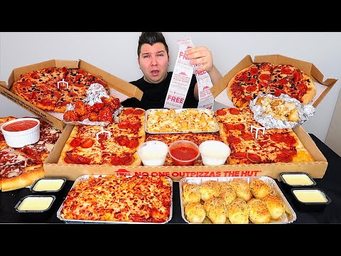 $150 Worth Of Pizza Hut • MUKBANG