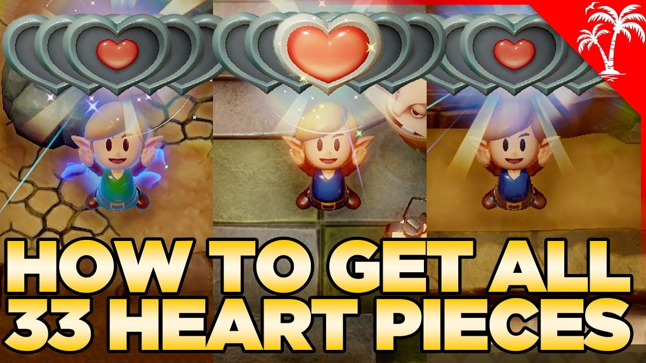 How To Get All 33 Heart Pieces In Link S Awakening Switch