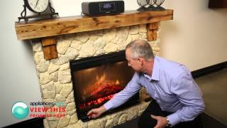 Description Of The Dimplex Fieldstone Mantle 3d Flame Effect Electric Heater - Appliances Online