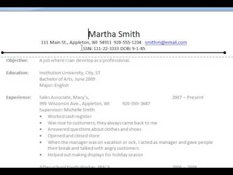 Common Resume Errors - Resume NOT Application Form - YouTube - common resume mistakes