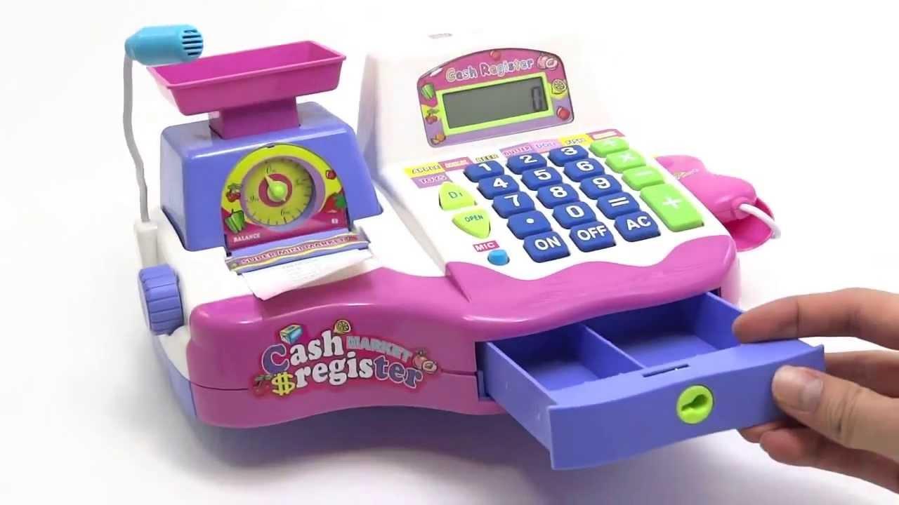 Caja registradora de juguete para niñas BASCULA Y ...