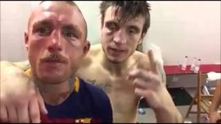 Kerman Lejarraga y Javier García Roche tras el combate del MMA Master Series disputado en La Casilla