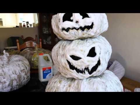 Halloween 2016 1st project paper mache Jack O'Lantern