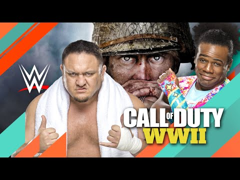WWE Superstars Xavier Woods And Samoa Joe Go Head-To-Head in CoD: WW2 Multiplayer