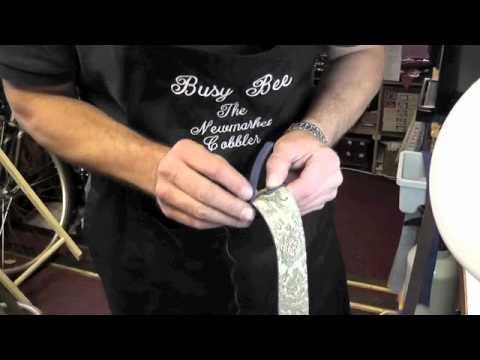 Handmade reversible leather belt www.pickupmyrepair.co.uk