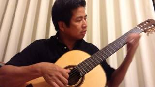 Aline - Christophe. Freestyle Guitar by Justin Nguyen