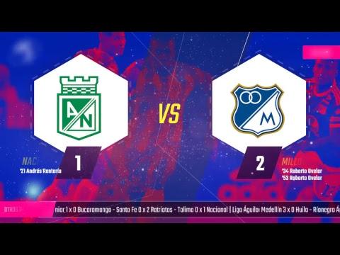 EN VIVO: Atlético Nacional vs Millonarios | FINAL Superliga 2018