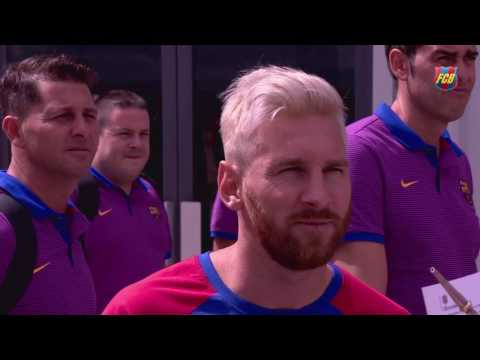 FC Barcelona's pre-season 2016/17: trip to Birmingham