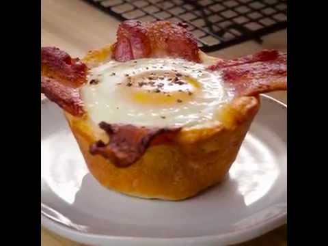Easy Bacon And Egg Crescent Cups Youtube