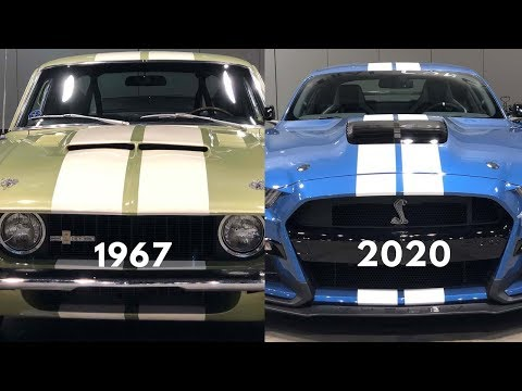 1967 - 2020 Ford Mustang Shelby GT 500 at the Chicago Auto Show